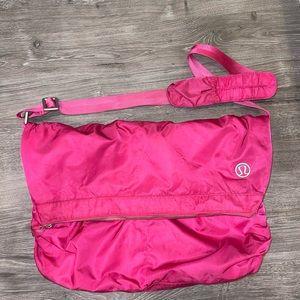 """Lululemon Pink """"Move It"""" Messenger Bag"""